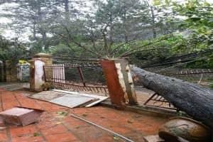 Lâm Đồng: 2 người chết, nhiều vùng bị cô lập, nhà cửa tốc mái